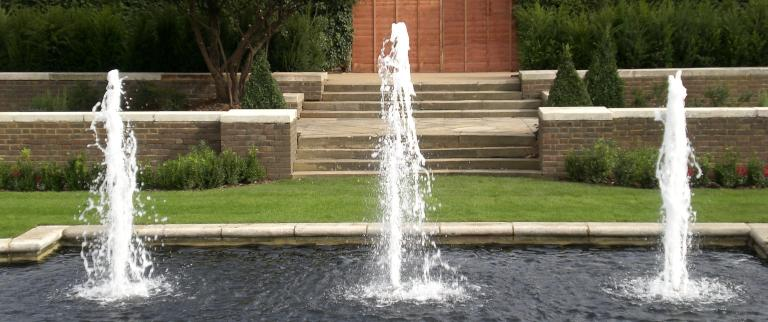 Water features and irrigation systems